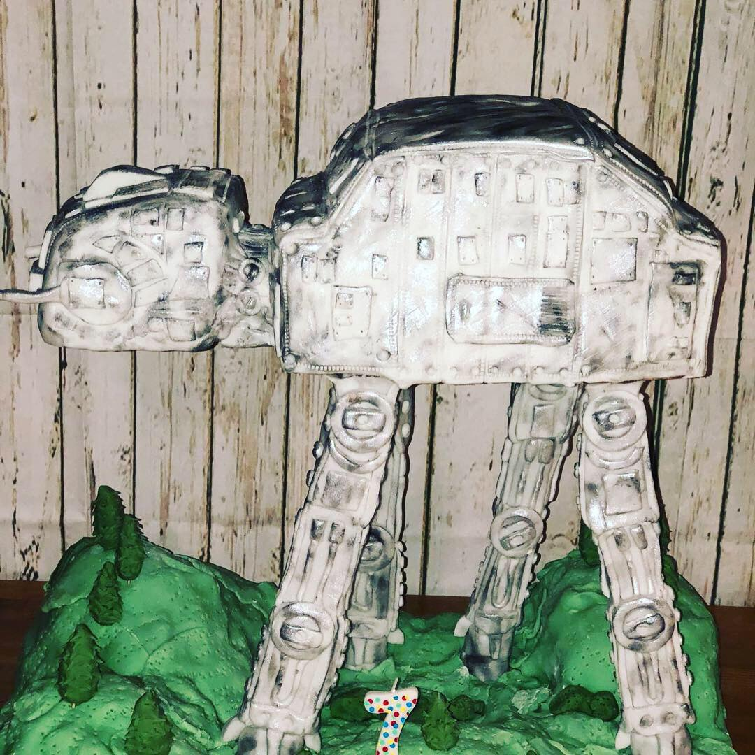 Star Wars imperial walker cake